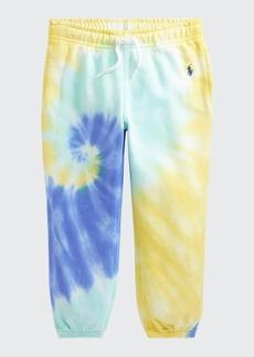 Ralph Lauren Childrenswear Girl's Tie-Dye Drawstring Jogger Pants  Size 5-6X