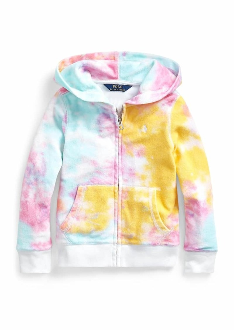 Ralph Lauren Childrenswear Girl's Tie-Dye Hooded Zip-Up Jacket  Size 5-6X