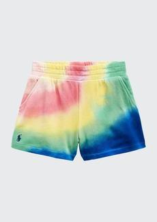 Ralph Lauren Childrenswear Girl's Tie-Dye Logo Embroidered Shorts  Size 2-4