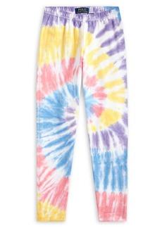Ralph Lauren Childrenswear Girl's Tie-Dyed Stretch-Cotton Leggings