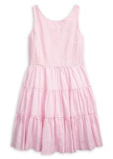 Ralph Lauren Childrenswear Girl's Tiered Cotton Dress