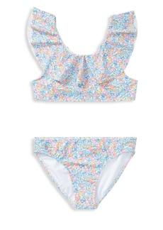 Ralph Lauren Childrenswear Girl's Two-Piece Floral Swimsuit