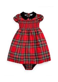 Ralph Lauren Childrenswear Girl's Wool Tartan Plaid Smocked Dress w/ Bloomers  Size 6-24 Months