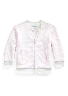 Ralph Lauren Childrenswear Houndstooth Sherpa Reversible Jacket  Size 12-24 Months