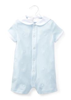 Ralph Lauren Childrenswear Interlock Sailor Embroidered Shortall