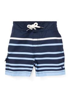 Ralph Lauren Childrenswear Kailua Striped Swim Trunks  Size 12-24 Months