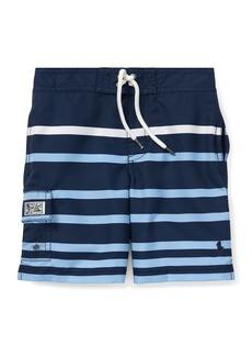 Ralph Lauren Childrenswear Kailua Striped Swim Trunks  Size 5-7