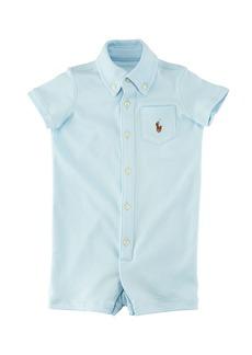 Ralph Lauren Childrenswear Kensington Interlock Collared Shortall