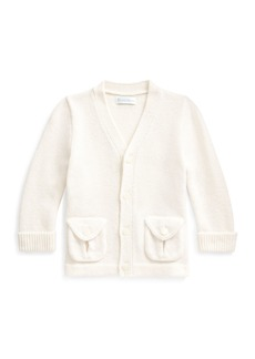 Ralph Lauren Childrenswear Kid's Merino Wool V-Neck Sweater Cardigan  Size 6-24 Months