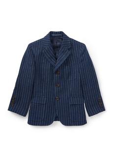Ralph Lauren Childrenswear Linen Princeton Pinstripe Blazer  Size 4-7
