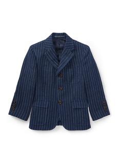 Ralph Lauren Childrenswear Linen Princeton Pinstripe Blazer  Size 2-3