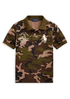 Ralph Lauren Childrenswear Little Boy's & Boy's Camouflage Cotton Mesh Polo