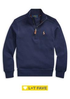 Ralph Lauren Childrenswear Little Boy's Cotton Interlock Pullover