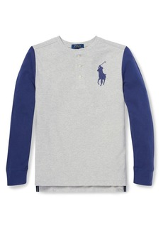 Ralph Lauren Childrenswear Little Boy's & Boy's Long-Sleeve Cotton Henley