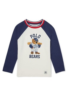 Ralph Lauren Childrenswear Little Boy's & Boy's Long-Sleeve Graphic Baseball Tee