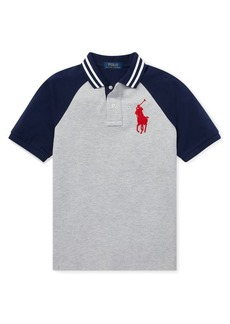 Ralph Lauren Childrenswear Little Boy's & Boy's Raglan Polo
