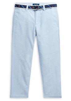 Ralph Lauren Childrenswear Little Boy's Belted Stretch-Cotton Oxford Skinny Pants