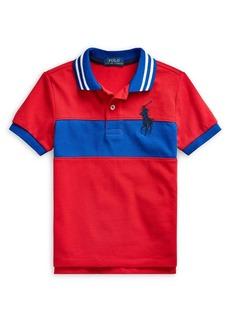 Ralph Lauren Childrenswear Little Boy's Big Pony Cotton Mesh Polo Shirt