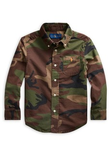 Ralph Lauren Childrenswear Little Boy's Camo Cotton Oxford Shirt