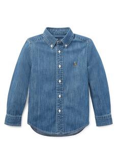 Ralph Lauren Childrenswear Little Boy's & Boy's Chambray Button-Down Shirt