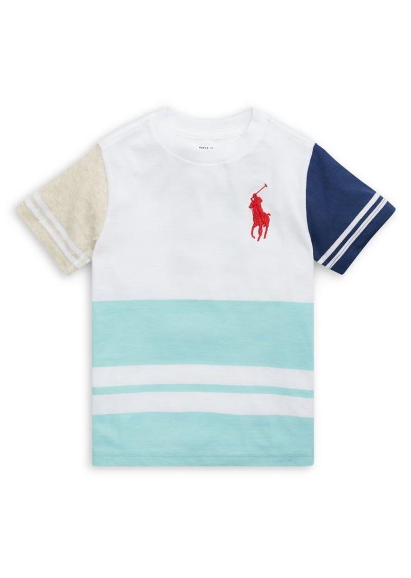 Ralph Lauren Childrenswear Little Boy's Colorblock Graphic Cotton Tee