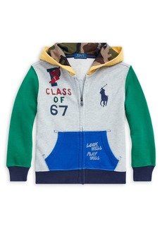 Ralph Lauren Childrenswear Little Boy's Colorblocked Cotton Hoodie