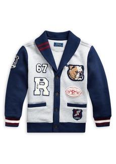 Ralph Lauren Childrenswear Little Boy's Cotton Blend Fleece Cardigan