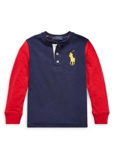 Ralph Lauren Childrenswear Little Boy's Cotton Mesh Henley