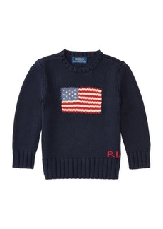 Ralph Lauren Childrenswear Little Boy's Flag Sweater
