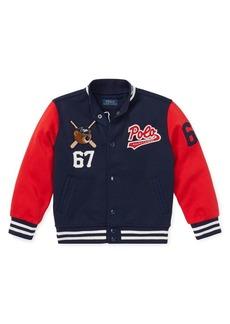 Ralph Lauren Childrenswear Little Boy's Double Tech Knit Varsity Jacket