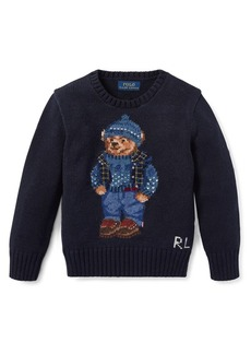 Ralph Lauren Childrenswear Little Boy's Embroidered Cotton Sweater
