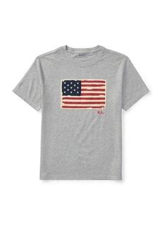 Ralph Lauren Childrenswear Little Boy's Flag Cotton Jersey Tee