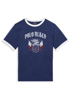 Ralph Lauren Childrenswear Little Boy's Graphic Cotton Tee