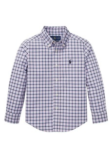 Ralph Lauren Childrenswear Little Boy's Grid Poplin Shirt