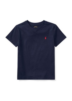 Ralph Lauren Childrenswear Little Boys Jersey Cotton V-Neck Tee