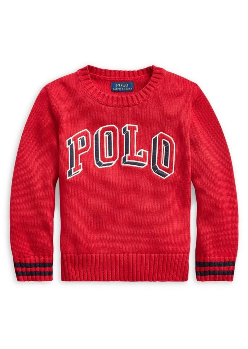 Ralph Lauren Childrenswear Little Boy's Logo Cotton Sweater