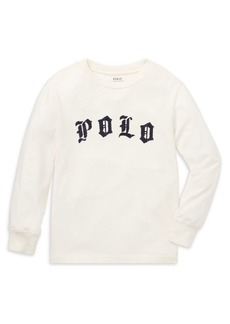Ralph Lauren Childrenswear Little Boy's Logo Long-Sleeve Cotton Tee