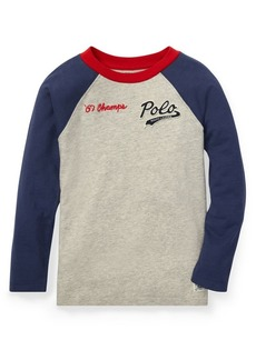 Ralph Lauren Childrenswear Little Boy's Long-Sleeve Baseball Tee