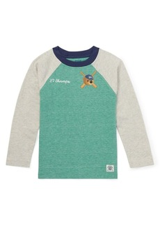 Ralph Lauren Childrenswear Little Boy's Long-Sleeve Raglan Baseball Tee