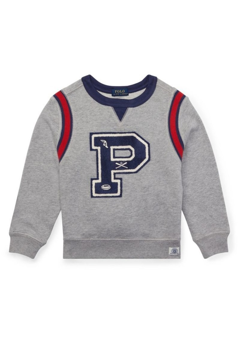 Ralph Lauren Childrenswear Little Boy's Novel Crewneck Sweater