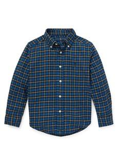 Ralph Lauren Childrenswear Little Boy's Plaid Cotton Button-Down Shirt