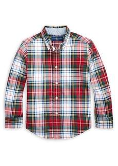 Ralph Lauren Childrenswear Little Boy's Plaid Stretch Cotton Madras Shirt