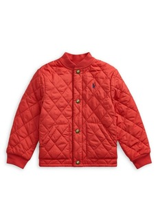 Ralph Lauren Childrenswear Little Boy's Quilted Water-Repellent Cotton-Blend Jacket