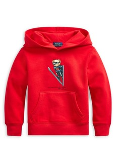 Ralph Lauren Childrenswear Little Boy's Ski Bear Cotton-Blend Hoodie