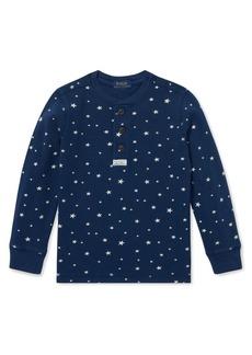 Ralph Lauren Childrenswear Little Boy's Star-Print Cotton Henley