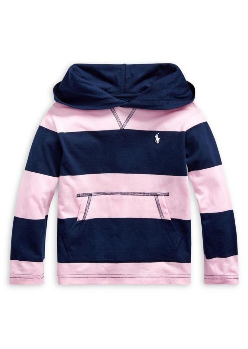 Ralph Lauren Childrenswear Little Boy's Striped Cotton Hooded Tee