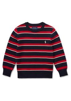 Ralph Lauren Childrenswear Little Boy's Striped Cotton Sweater