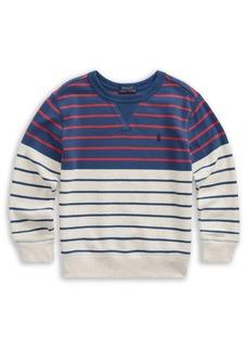 Ralph Lauren Childrenswear Little Boy's Striped French Terry Sweatshirt