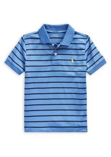 Ralph Lauren Childrenswear Little Boy's Striped Performance Jersey Polo