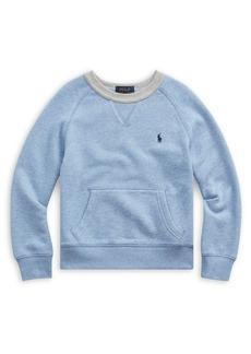 Ralph Lauren Childrenswear Little Boy's Twill Terry Sweatshirt